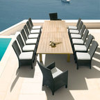 Barlow Tyrie - Barlow Tyrie Savannah Dining Armchairs with Teak Dining Table - Barlow Tyrie manufacturers an extensive range of outdoor furniture crafted from teak, all-weather wicker, stainless steel and aluminium. Their traditional and contemporary designs include deep seating chairs, dining chairs, tables, steamers, benches and swing seats.