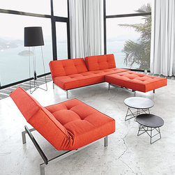 "Mob Sofa Bed - The Mob Sofa Bed is quick and simple to transform into a comfortable bed. Made with a 7"" pocket spring mattress, the Mob sleeps comfortably and holds its shape very well. Designed in Denmark with Danish modern style."