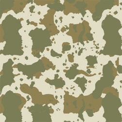 "Stencil Ease - Camouflage Stencil - Camouflage Stencil You can use this large-format Camo stencil for creating patterns on trucks boats wood surfaces duck blinds deer blinds walls floors and fabrics. The paint can be applied through the stencil with camo spray paint (available at most hardware stores) or liquid paints using our high density foam rollers. Boats should be painted with specialty marine camo paints (such as Pettit Z*Spar) while walls can be painted with interior paints. The camo stencil design repeats in all directions allowing you to customize any size project. Quickly and easily create a camouflaged surface with our camo stencils! The basic kit contains: 1 - 19.5"" x 19.5"" Stencil Sheet You can also order the stencil in a 40"" x 40"" size - shown as Production Stencil 4 full repeats or 40"" x 80"" size - shows as Production Stencil 8 full repeats. Note: The image shown was painted twice with this stencil. The background was khaki to start. Then the first paint applied was leaf green. The stencil was then rotated clockwise one turn and painted with the driftwood color. This detail and color sequence can be varied in any combination and performed with any paint. If you would like to test this pattern with some basic paints you can try ordering the the paint kit or the complete kit. The paint kit comes with 2 oz. Acrylic stencil paint colors: MDA02173 Khaki Tan (Base coat) MDA02051 Leaf Green (stencil Layer 1) MDA02171 Driftwood(stencil layer 2) If you are camo stenciling on an outdoor surface you should not use acrylic paint. Complete kit comes with stencil two each of the paints and one T7604 4 inch Foam Roller"