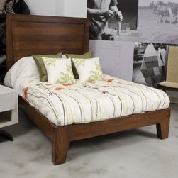 JS@home - Sheridan Road Panel Bed - Sheridan Road Collection features a rich ceruse finishing process highlighting the rift sawn oak and box joints, in a nod to Mid-Century Modern style with an updated flair. Features: -Designed by John Strauss.-Straight base.-Solid rift sawn oak and steam bent maple base.-Cleaning and care: use lightly damp cloth followed by a dry cloth - never use silicone based cleaning products.-Made in United States.-Sheridan Road Collection.-Distressed: No.-Collection: Sheridan Road.-Country of Manufacture: United States.Dimensions: -Overall Product Weight: 100 lbs.