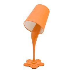 "Lumisource - Woopsy Lamp, Orange - 7.5"" L x 5.5"" W x 15.5"" H"