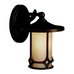 Kichler Lighting - Kichler Lighting 9364AGZ Chicago Aged Bronze Outdoor Wall Sconce - 1, 60W Medium