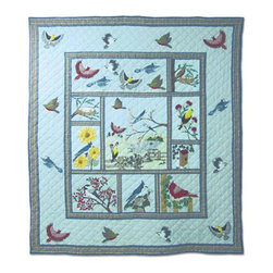 Patch Quilts - Songbirds Quilt Queen 85 x 95 Inch - Intricately appliqued and beautifully hand quilted  - Bedding ensemble from Patch Magic,  the name for the finest quality quilts and accessories  - Machine washable  - Line or Flat dry only Patch Quilts - QQBIRD