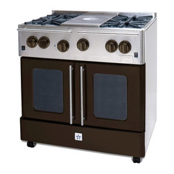 "BlueStar Statuary Bronze 36"" Gas Range - Statuary Bronze 36"" Gas Range-part of the Precious Metal Collection"