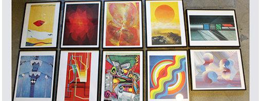Products/Art/Sculpture - Set of Ten Framed Artwork circa 1969