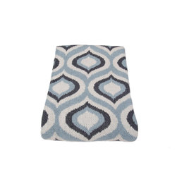 in2green - Eco Royal Throw, Milk/Smoke/Blue Pond - Feel like royalty wrapped in this soothing print, in either a two- or three-tone blend of warm earthtones.