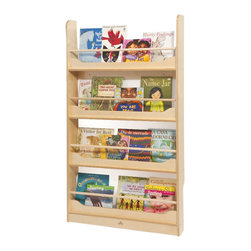 Whitneybrothers - Whitney Brothers Home Office Wall Mounted Book Storage Shelf - Display a load of books in this slim wall mounted shelf thats perfectly sized for children.  Ships ready to assemble. Wall mounting hardware not included.  GreenGuard certified. Made in USA. Lifetime Warranty.