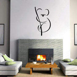 StickONmania - Koala Contours Sticker - A cool vinyl decal wall art decoration for your home  Decorate your home with original vinyl decals made to order in our shop located in the USA. We only use the best equipment and materials to guarantee the everlasting quality of each vinyl sticker. Our original wall art design stickers are easy to apply on most flat surfaces, including slightly textured walls, windows, mirrors, or any smooth surface. Some wall decals may come in multiple pieces due to the size of the design, different sizes of most of our vinyl stickers are available, please message us for a quote. Interior wall decor stickers come with a MATTE finish that is easier to remove from painted surfaces but Exterior stickers for cars,  bathrooms and refrigerators come with a stickier GLOSSY finish that can also be used for exterior purposes. We DO NOT recommend using glossy finish stickers on walls. All of our Vinyl wall decals are removable but not re-positionable, simply peel and stick, no glue or chemicals needed. Our decals always come with instructions and if you order from Houzz we will always add a small thank you gift.