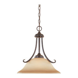 Designers Fountain - Designers Fountain Stratton Traditional Pendant Light X-MW-23089 - The Stratton Collection from Designers Fountain boasts traditional designs that are simple and elegant. This Stratton Traditional Pendant Light adheres to simple traditional looks with an Amber Sandstone shade and a Warm Mahogany finish. You can be sure this pendant will deliver a stunning light scheme and design.