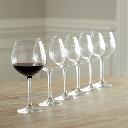 Ballard Designs - Set of 6 Jameson Red Wine Glasses - Patented Tritan titanium technology. Break, chip and scratch-resistant. Not dishwasher-safe. Stems are proportioned for optimal stability. From renown German glassmaker, Schott Zwiesel, this lead-free stemware is preferred by top restaurants and hotels the world over for its beauty and extreme durability. The varietal-specific bowl is designed to showcase the bouquet and flavor of red wines. Schott Zwiesel Red Wine Glass features: . . . .