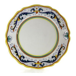 Artistica - Hand Made in Italy - RICCO DERUTA LITE: Dinner Plate (Simple Decor - SIM) - Deruta Lite Dinnerware.