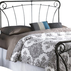 Fashion Bed - Fashion Bed Langford Headboard in Blackened Silver-Queen size - Fashion Bed - Headboards - B12A35 - Graceful lines and rustic details make this headboard a worthy addition to your decor. Reminiscent of French antique iron gates, the Langford Headboard is the epitome of elegance, style, and class. The Langford Headboard features four spiral C scrolls, delicate castings, and artistically curved spindles to bring a taste of the French countryside into your home. The Langford Headboard is finished in Blackened Silver, and is available in full, queen, and king to accommodate any space.