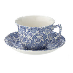 Chintz Teacup and Saucer, Burleigh