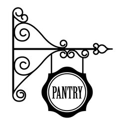Dana Decals - Hanging Pantry Sign Decal - If your walls are boring, our quality non-fading vinyl wall decals are the perfect accessories!