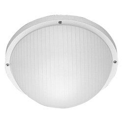 Progress Lighting - Progress Lighting Polycarbonate Contemporary Wall / Ceiling Surface Mount X-03-2 - The dome shape of this Progress Lighting flush mount ceiling light gives it a clean, updated look that is sure to please. The circular base of this modern flush ceiling light comes finished in a White hue with a white ribbed polycarbonate diffuser that completes the look. For added versatility, this UL listed (for wet locations) design can also be used as a wall sconce.