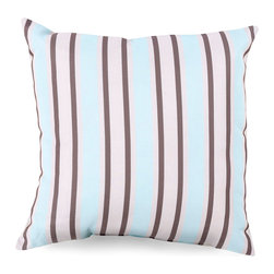Red Nautical Knot Pillow - Lattice designs are given a seaside twist by the Red Nautical Knot Pillow, its simple diamond and square-knot designs printed in white on a backdrop of deep, cheerful cherry red for a cozy and welcoming effect.  Though the motif is familiar from beach-house tradition, this pillow is surprisingly versatile, offering a rich effect when placed on a contrasting chair.