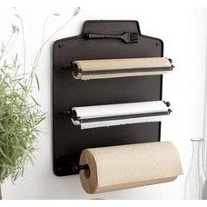 Paper towel, tin foil, cling wrap, etc hung back of pantry door