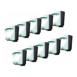 Maxsa Innovations - 10 Pack of White Night Lights - Set of 10 night lights that are perfect outdoors for steps  walkways  keyholes and entry ways. Also great indoors for hallways  closets  bathrooms  and emergency basement lighting. 3 Bright LED lights automatically turn on when motion is detected. Installs with the included mounting bracket or simply stands on a flat surface. Uses 3 AA batteries (not included).  This item cannot be shipped to APO/FPO addresses. Please accept our apologies.