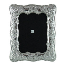 Sterling Silver Picture Frame / Primavera-Spring, 8x10 - -Made from 950 Peruvian sterling silver