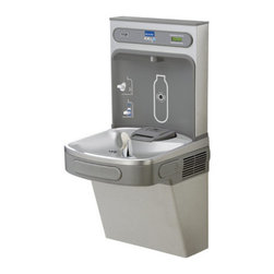"Elkay - Elkay EZS8WSSK N/A EZH2O EZH2O Hands-Free Drinking Fountain and Bottle - EZH2O Hands-Free Drinking Fountain and Bottle Filling Station with Glass FillerIdeal for education, healthcare facilities, fitness clubs, and hospitality. EZH2O bottle filling station provides convenient hydration, reduces our dependency on plastic water bottles, provides a rapid fill water to quench thirst and help minimize disposable plastic bottle waste in the environment.Elkay EZS8WSSK Features:Complete cooler and bottle filling station in a consolidated space saving ADA compliant designSanitary, no-touch, sensor activation with automatic 20 second shut-off timerSilver Ion anti-microbial protectionQuick fill 1.1 gpm refrigerated unitLaminar flow provides minimal splashReal drain system eliminates standing waterVisual user interface display includes Green Ticker that counts the quantity of bottles saved from the landfillIdeal for use in educational facilities, healthcare facilities, sport and fitness centers, airports or other commercial buildingsElkay EZS8WSSK Specifications:Base Flow Rated: 8.0 gph of 50- F water at 90- F ambient and 80- F inlet waterFull Load Amps: 6Shipping Weight: 87 lbsFountain Type: CoolerInstallation Type: WallHands Free Operation: YesVoltage: 115V/60HzHeight: 39-1/8""Width: 19""Length: 18-3/8""Foot Pedal: NoGlass Filler: YesFilter: NoOverall Dimensions: 18-3/8"" L x 19"" W x 39-1/8"" HCalifornia AB1953Low Lead Compliant: YesADA Compliant: Yes"