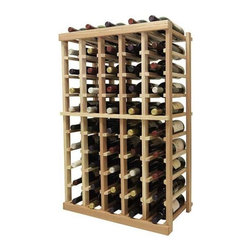 Wine Cellar Innovations - 3 ft. 5-Column Bottle Wine Rack (All-Heart Redwood - Light Stain) - Choose Wood Type and Stain: All-Heart Redwood - Light Stain. Bottle capacity: 50. Five column wine rack. Versatile wine racking. Custom and organized look. Beveled and rounded edges ensures wine labels will not tear when the bottles are removed. Can accommodate just about any ceiling height. Wine rack: 23.19 in. W x 13.5 in. D x 35.94 in. H (16 lbs.). Optional base platform: 23.19 in. W x 13.38 in. D x 3.81 in. H (5 lbs.). Vintner collection. Made in USA. Warranty. Assembly Instructions. Rack should be attached to a wall to prevent wobble