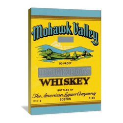 """Artsy Canvas - Mohawk Valley Bourbon Whiskey 16"""" X 24"""" Gallery Wrapped Canvas Wall Art - Mohawk Valley Bourbon Whiskey beautifully represented on 16"""" x 24"""" high-quality, gallery wrapped canvas wall art"""