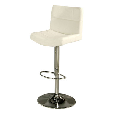 Pastel Furniture - Pastel Versailles Hydraulic Barstool - Chrome Metal - PU Ivory - The contemporary Versailles hydraulic barstool has a simple yet elegant design that is perfect for any decor. An ideal way to add a touch of modern flair to any dining or entertaining area in your home. This barstool features a quality metal frame with sturdy legs and foot rest Finished in chrome and is upholstered in PU ivory or PU black. Add this modern design to your decor and be the envy of friends and family.