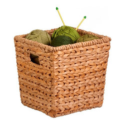 Honey Can Do - Honey Can Do Medium Square Banana Leaf Basket Multicolor - STO-02886 - Shop for Closet from Hayneedle.com! The Honey Can Do Medium Square Banana Leaf Basket is a natural for bedroom and bathroom storage. Crafted with durable natural sustainable banana leaves woven around a sturdy frame this basket boasts two built-in handles that make for easy movement from room to room and an all-purpose design great for storing toys magazines clothes and more.About Honey-Can-DoHeadquartered in Chicago Honey-Can-Do is dedicated to helping you organize your life. They understand that you need storage solutions that are stylish and affordable at the same time. Honey-Can-Do focuses on current design trends and colors to create products that fit your decor tastes while simultaneously concentrating on exceptional quality. When buying a Honey-Can-Do product you can be sure you are purchasing a piece that has met safety control standards and social compliance methods.