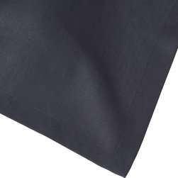 Huddleson Linens - Slate Charcoal Grey Linen  Tablecloth - Slate Charcoal Grey Italian  Linen Tablecloth. Not all linens are created equal. The Italian linen Huddleson uses to make our napkins, tablecloths, placemats and runners is the finest quality available.