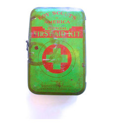 Vintage Boy Scout First-aid Kit Tin by Love & Arrow - Always be prepared! Store your own first-aid kit in this vintage Boy Scout tin, or keep it in the bathroom to hold your essentials.