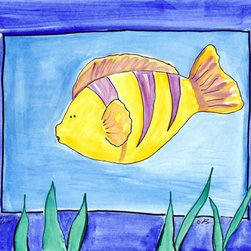 Oh How Cute Kids by Serena Bowman - Two Fish, Ready To Hang Canvas Kid's Wall Decor, 11 X 14 - Each kid is unique in his/her own way, so why shouldn't their wall decor be as well! With our extensive selection of canvas wall art for kids, from princesses to spaceships, from cowboys to traveling girls, we'll help you find that perfect piece for your special one.  Or you can fill the entire room with our imaginative art; every canvas is part of a coordinated series, an easy way to provide a complete and unified look for any room.