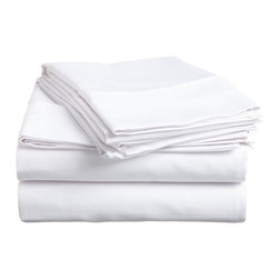 "500 Thread Count Cotton Sheet Set - Twin XL - White - These 500 thread count sheets are made of premium quality cotton and built to last. They offer long lasting comfort and are a great value for the price. Each set includes a flat sheet 66""x100"", a fitted sheet 39""x80"", and two pillowcases 20""x30""."