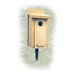 Woodlink - Cedar Bluebird House - Cedar Bluebird House. Built to Audubon specifications, each features a 1 9/16 in hole.