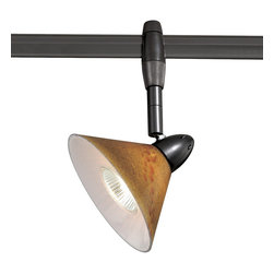 Vaxcel - Vaxcel PD53304DB Euro Monorail Spot Light Dark Bronze Lava Swirl Glass - Vaxcel PD53304DB Euro Monorail Spot Light Dark Bronze Lava Swirl Glass