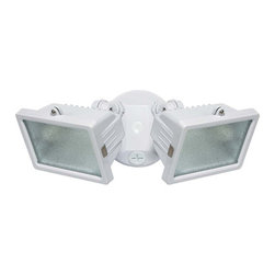Globe Electric - Globe Electric 79131 300 Watt Two Light Halogen Security Flood Light - Features: