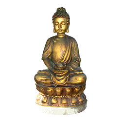 Serenity Health & Home Decor - Outdoor Classics Relaxed Buddha Fountain with Light - Add an ambiance of serenity to your outdoor space with this Buddha Fountain.