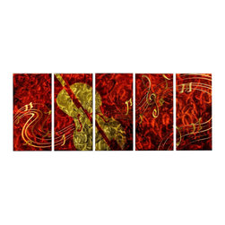 Matthew's Art Gallery - Metal Wall Art Modern Contemporary Decor Music Inspiration - Name: Inspiration
