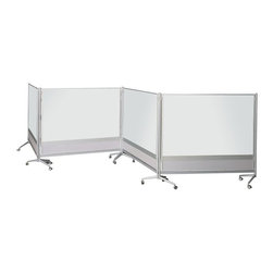 Best Rite - Bestrite Marker Board Room Divider - 6H ft. Multicolor - 661AD-DD - Shop for Dry Erase Boards from Hayneedle.com! The Bestrite Marker Board Room Divider offers a variety of uses for various commercial environments. It features marker board in your choice of porcelain steel or Dura-Rite marker board material. The porcelain steel surface option is magnetic for even greater functionality. With its sleek contemporary design this divider will complement the decor of even the most updated classroom office or exhibition area. The aluminum slat wall panel at the bottom of each board allows you to attach optional accessory trays where you want them. No fasteners clips or hooks needed. A unique leg design allows easy docking so you can create different configurations. Simply join the boards with the included plastic connectors. Boards fit against each other with minimal gapping and no overlapping of parts. Dividers come standard with four locking casters for easy maneuverability. Choose from several size options to meet your unique work environment.