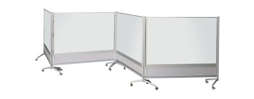 Moore Co - Bestrite Marker Board Room Divider - 6H ft. Multicolor - 661AD-DD - Shop for Dry Erase Boards from Hayneedle.com! The Bestrite Marker Board Room Divider offers a variety of uses for various commercial environments. It features marker board in your choice of porcelain steel or Dura-Rite marker board material. The porcelain steel surface option is magnetic for even greater functionality. With its sleek contemporary design this divider will complement the decor of even the most updated classroom office or exhibition area. The aluminum slat wall panel at the bottom of each board allows you to attach optional accessory trays where you want them. No fasteners clips or hooks needed. A unique leg design allows easy docking so you can create different configurations. Simply join the boards with the included plastic connectors. Boards fit against each other with minimal gapping and no overlapping of parts. Dividers come standard with four locking casters for easy maneuverability. Choose from several size options to meet your unique work environment.