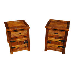 Solid Teak Wood Bedside Box Night Stand End Table Twin Set (Set of 2) - Manufacturing details