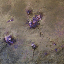 Theresa Stirling - Botanicals 3.2 - Lovely, whimsical new encaustic botanicals for your inspired space. Wax and oil combined, slowly, layer by layer, creates a luminous gorgeous piece to fit any style. Each one of these new pieces becomes a statement piece.  Greys, egpplants, cranberry colors... lavenders, all with a real fresh look. Needs no frame.