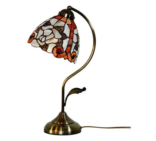 ParrotUncle - Rose Sea Shell Shade Tiffany Table Lamp - Add the perfect finishing touch to your home decoration with this Rose Sea Shell Shade Tiffany Table Light. We carry a large selection to choose from that come in a variety of patterns, heights, and bases with experts who can help you find the ideal design.