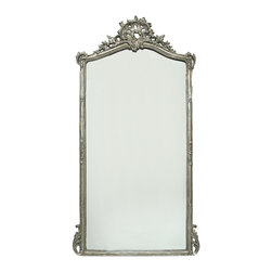 Tacey- Mirror - Mirror with Silver Leaf Finish and French Styling