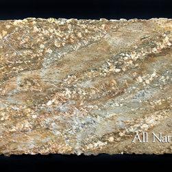 All Natural Stone - Oxford Gold Granite Slab - Oxford Gold Granite Slab. Perfect for Kitchen or Bathroom Counters.