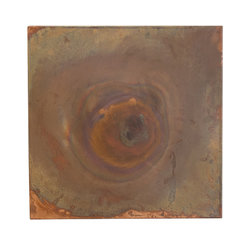 Silver Nest - Copper Metal Art - Copper metal art on canvas with burned center