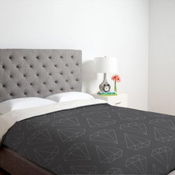 DENY Designs Wesley Bird Diamond Duvet Cover - Here it is, the perfect bedding. Now do I choose the white or the black background for some drama with my diamonds? I love how the pattern is large. It also comes on throw pillows and shower curtains.