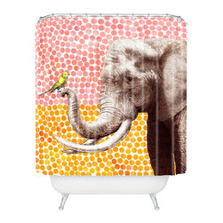 DENY Designs - Garima Dhawan New Friends 2 Shower Curtain - Who says bathrooms can't be fun? To get the most bang for your buck, start with an artistic, inventive shower curtain. We've got endless options that will really make your bathroom pop. Heck, your guests may start spending a little extra time in there because of it!