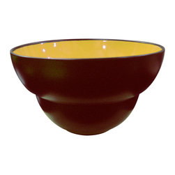 Waechtersbach - Duo Set of 4 Dipping Bowls Duo Curry - Perfect for entertaining, this set of four dipping bowls is also ideal for nuts or candy. Each bowl is crafted from porcelain that's been finished with a dishwasher-safe ceramic glaze. The matte chocolate exterior contrasts with the glossy yellow interior, adding visual interest and a sunny spark of color to your table.