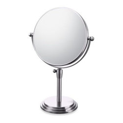 Aptations,a Kimball&young Affiliate - Mirror Image Classic Adjustable 5X/1X Vanity Mirror with Chrome Finish - Mirror Image Classic Adjustable Vanity Mirror features a dual sided mirror with 5X/1X magnification. Mirror is made using high quality, distortion-free glass.