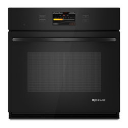 """Jenn-Air® 30"""" Single Wall Oven with V2™ Vertical Dual-Fan Convection System - This single wall oven offers the exclusive Culinary Center feature, which calibrates the perfect cooking time and temperature based on your preferences. Color photos guide you through the touchscreen menu as you select what you're making and how you'd like it done."""